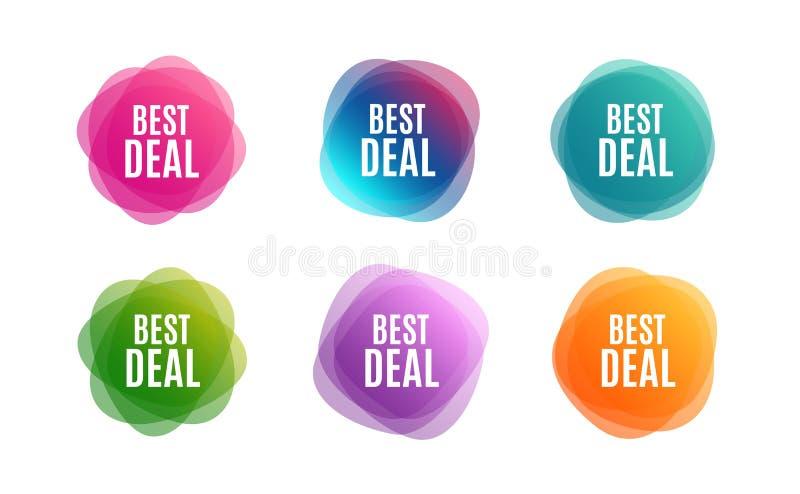 Καλύτερη διαπραγμάτευση Ειδικό σημάδι πώλησης προσφοράς r διανυσματική απεικόνιση