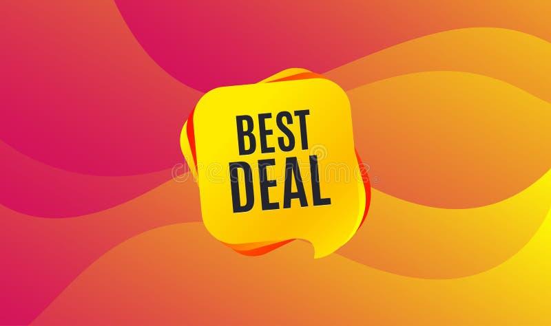 καλύτερη διαπραγμάτευσ&eta Ειδικό σημάδι πώλησης προσφοράς διάνυσμα διανυσματική απεικόνιση