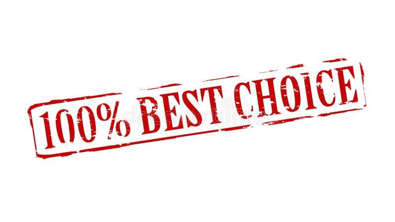 Καλύτερη επιλογή εκατό τοις εκατό διανυσματική απεικόνιση