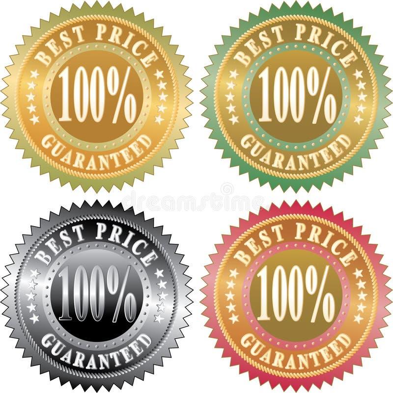 καλύτερη τιμή 100 διανυσματική απεικόνιση