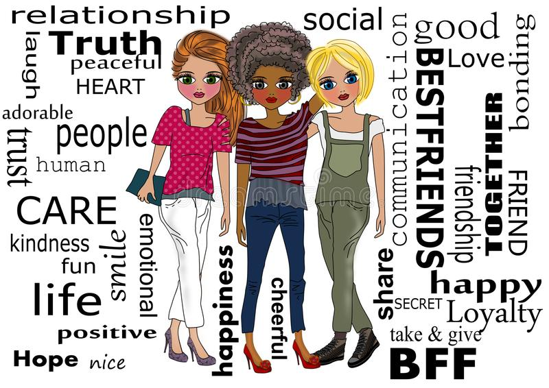 Καλύτεροι φίλοι ελεύθερη απεικόνιση δικαιώματος