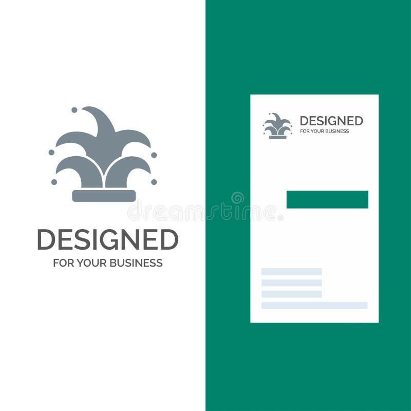 Καλύτερος, κορώνα, βασιλιάς, γκρίζο σχέδιο λογότυπων Madrigal και πρότυπο επαγγελματικών καρτών ελεύθερη απεικόνιση δικαιώματος