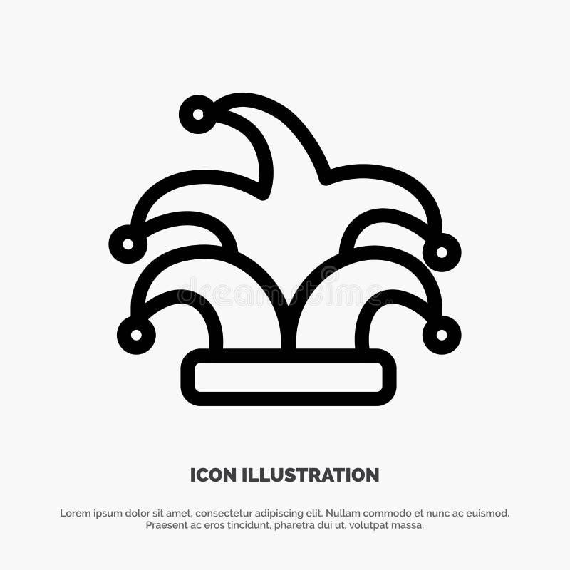 Καλύτερος, κορώνα, βασιλιάς, διάνυσμα εικονιδίων γραμμών Madrigal διανυσματική απεικόνιση