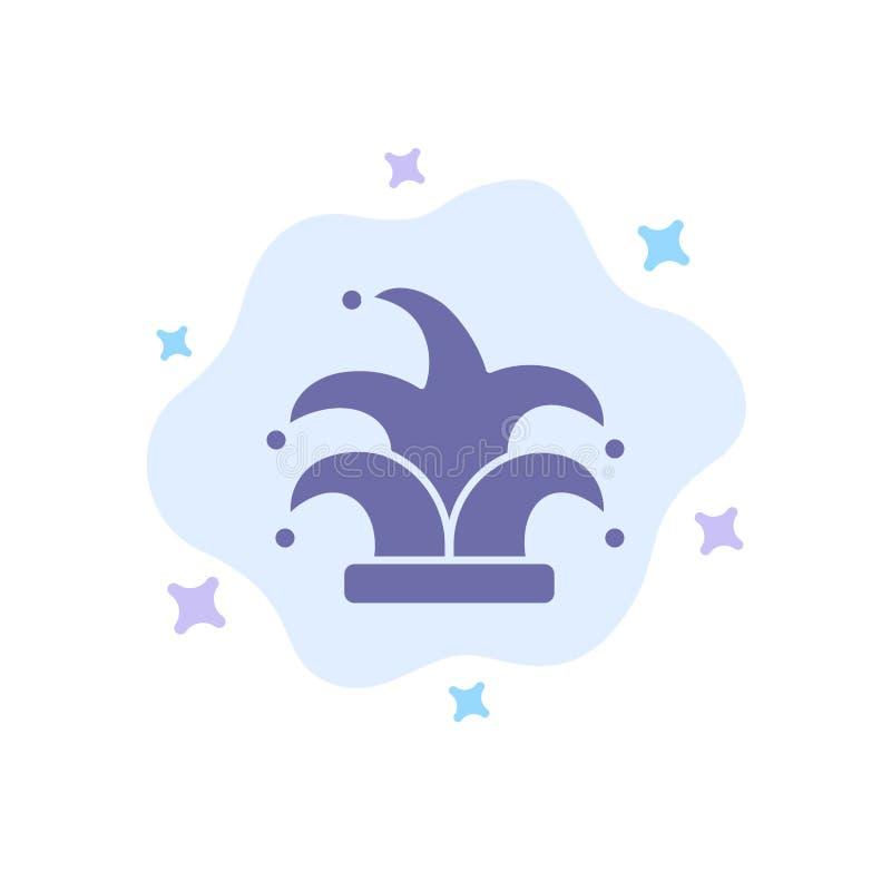 Καλύτερος, κορώνα, βασιλιάς, μπλε εικονίδιο Madrigal στο αφηρημένο υπόβαθρο σύννεφων διανυσματική απεικόνιση