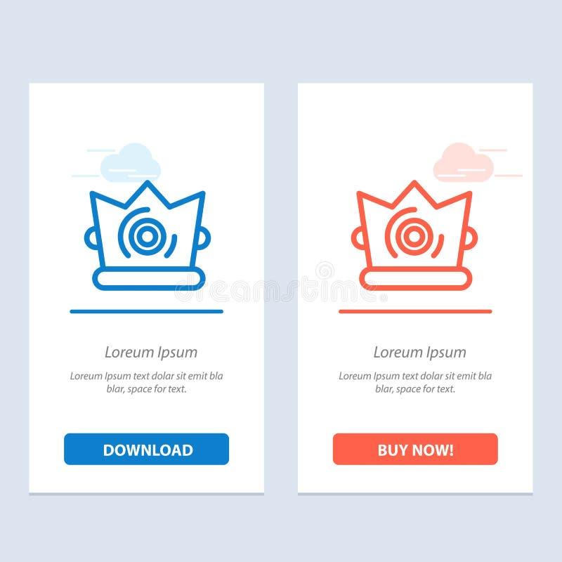 Καλύτερος, κορώνα, βασιλιάς, Madrigal μπλε και κόκκινο μεταφορτώστε και αγοράστε τώρα το πρότυπο καρτών Widget Ιστού ελεύθερη απεικόνιση δικαιώματος