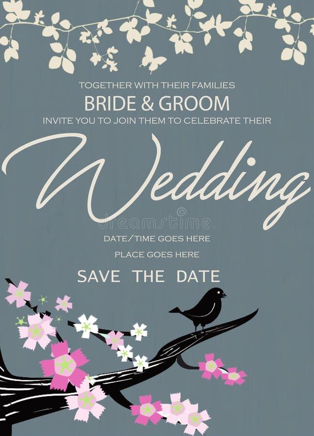 Καλύτερο πρότυπο γαμήλιων καρτών στοκ εικόνα με δικαίωμα ελεύθερης χρήσης