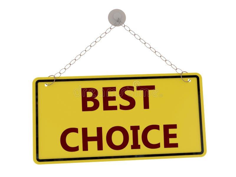 καλύτερο σημάδι επιλογή&si ελεύθερη απεικόνιση δικαιώματος