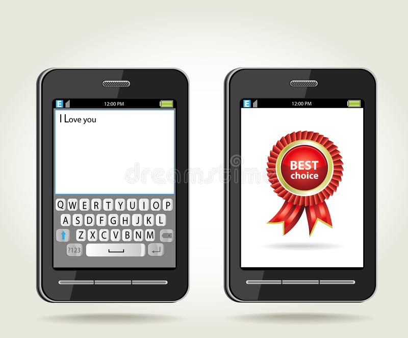 καλύτερο smartphone ροζέτων επιλογής onscr απεικόνιση αποθεμάτων
