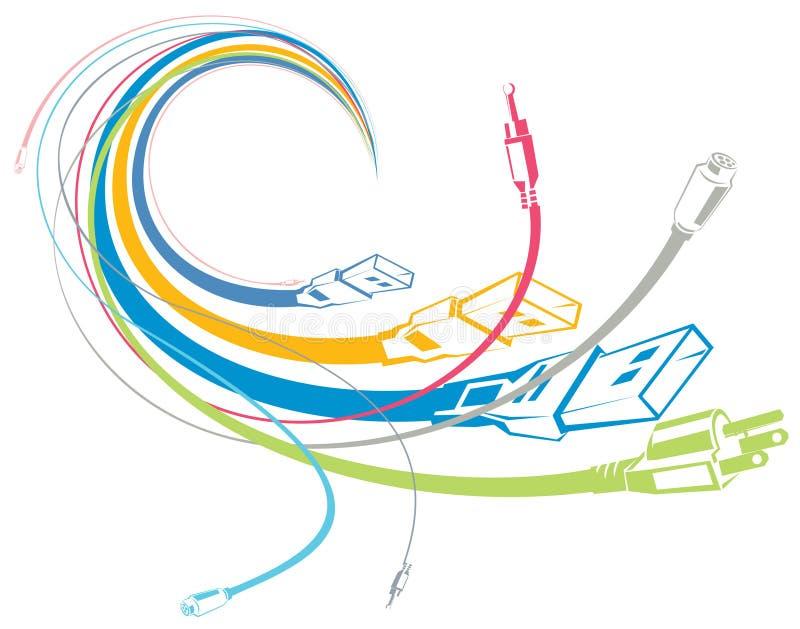 καλώδια ζωηρόχρωμα ελεύθερη απεικόνιση δικαιώματος