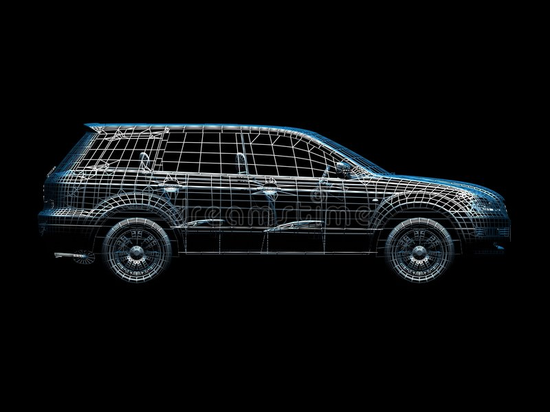 καλώδιο αυτοκινήτων απεικόνιση αποθεμάτων