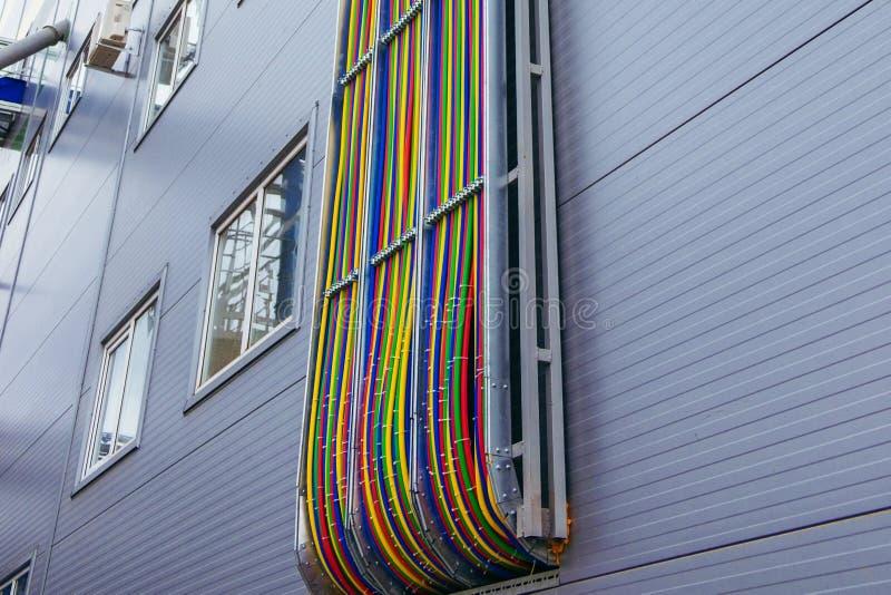 καλώδιο, ηλεκτρικός, βιομηχανικός, σύγχρονος, ηλεκτρικό, δύναμη, ηλεκτρική ενέργεια στοκ εικόνες