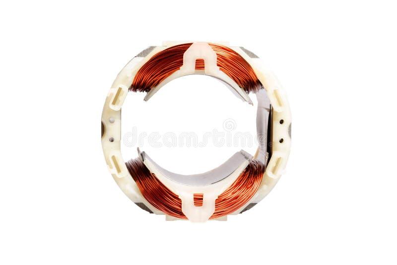 Καλώδιο χαλκού σε μια μηχανή, ηλεκτρική μαγνητική συσκευή για το στροφέα στοκ εικόνα με δικαίωμα ελεύθερης χρήσης