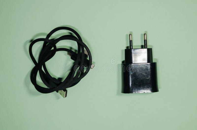Καλώδιο Usb και προσαρμοστής φραγμών στοκ φωτογραφία