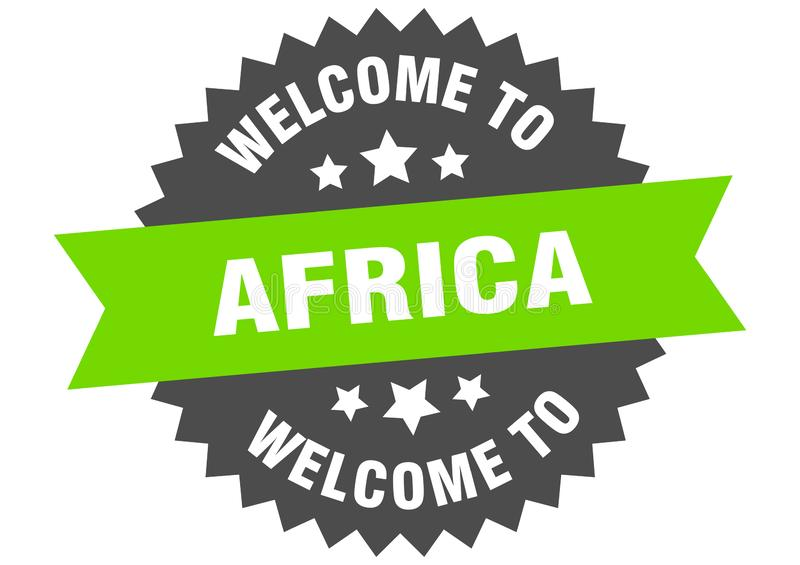 καλώς ορίσατε στην Αφρική Καλώς ορίσατε στην Αφρική απομονωμένο αυτοκόλλητο ελεύθερη απεικόνιση δικαιώματος