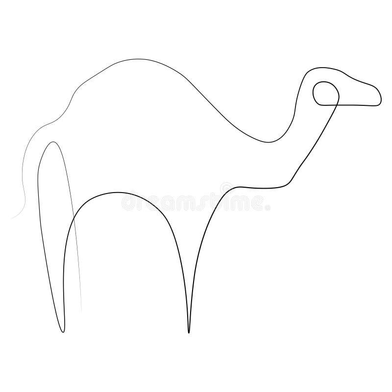 Καμήλα ένα γραμμή απεικόνιση αποθεμάτων