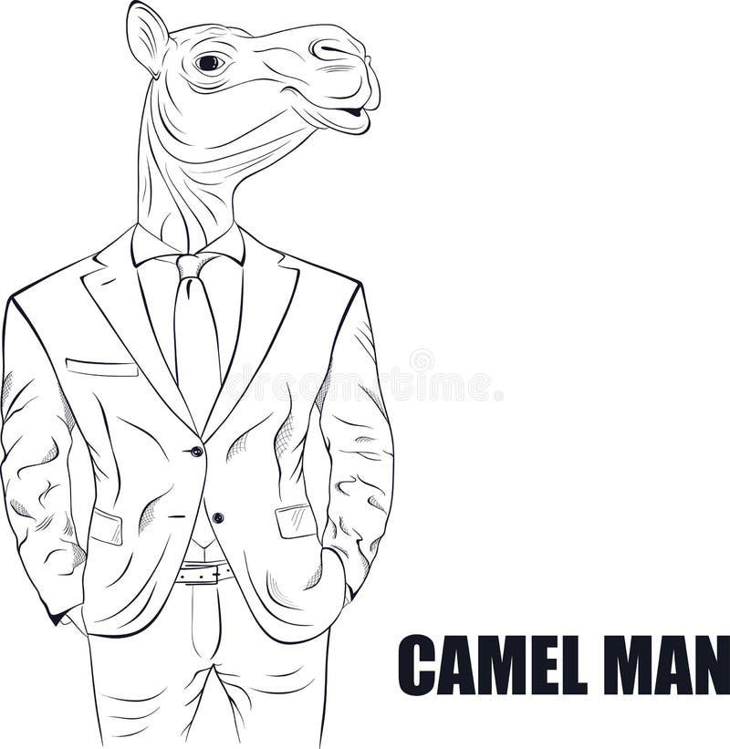 Καμήλα χαρακτήρα κινουμένων σχεδίων ελεύθερη απεικόνιση δικαιώματος