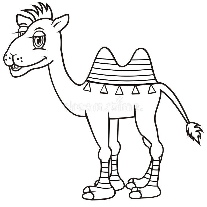 Καμήλα, χρωματίζοντας βιβλίο απεικόνιση αποθεμάτων