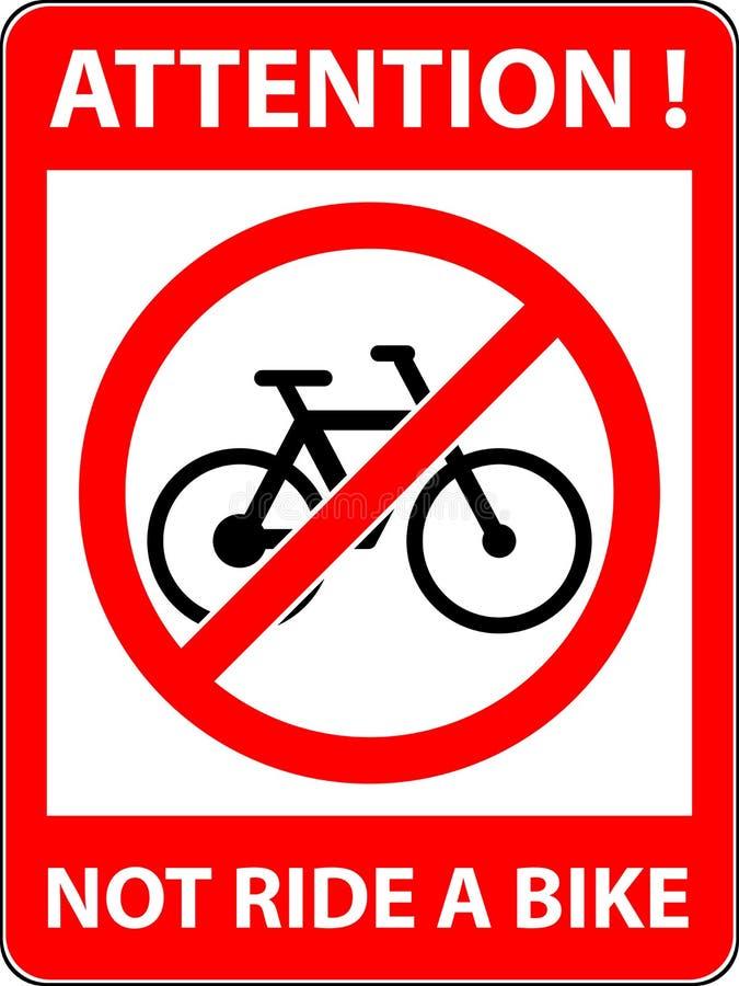 Καμία διανυσματική απεικόνιση σημαδιών ποδηλάτων Επίπεδο σχέδιο απεικόνιση αποθεμάτων