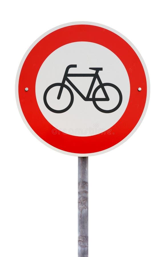 Καμία είσοδος για το σημάδι κυκλοφορίας ποδηλάτων στοκ εικόνα με δικαίωμα ελεύθερης χρήσης