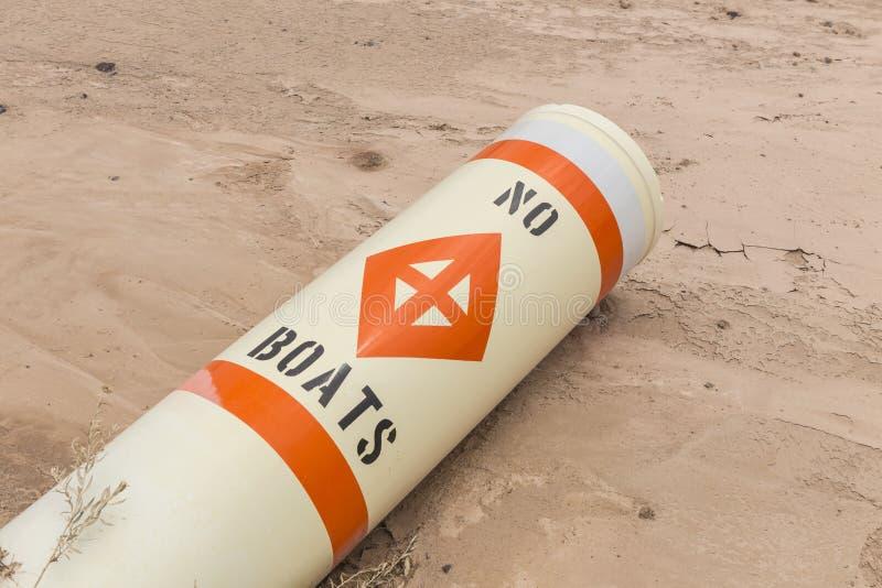 Καμία ζημία ξηρασίας σημαντήρων βαρκών στοκ φωτογραφία