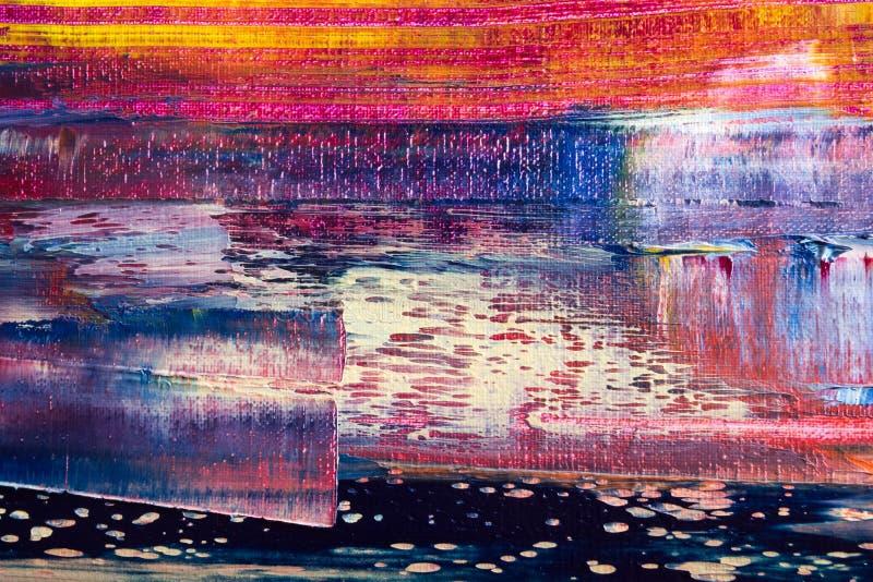καμβάς που χρωματίζεται αφηρημένος Ελαιοχρώματα σε μια παλέτα στοκ εικόνες με δικαίωμα ελεύθερης χρήσης