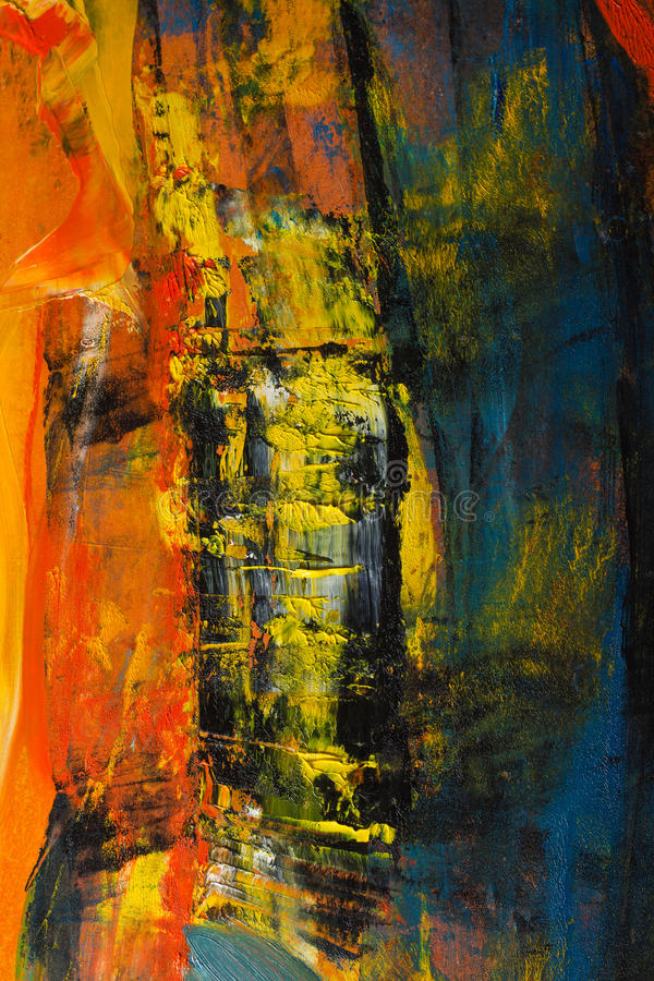καμβάς που χρωματίζεται αφηρημένος Ελαιοχρώματα σε μια παλέτα διανυσματική απεικόνιση