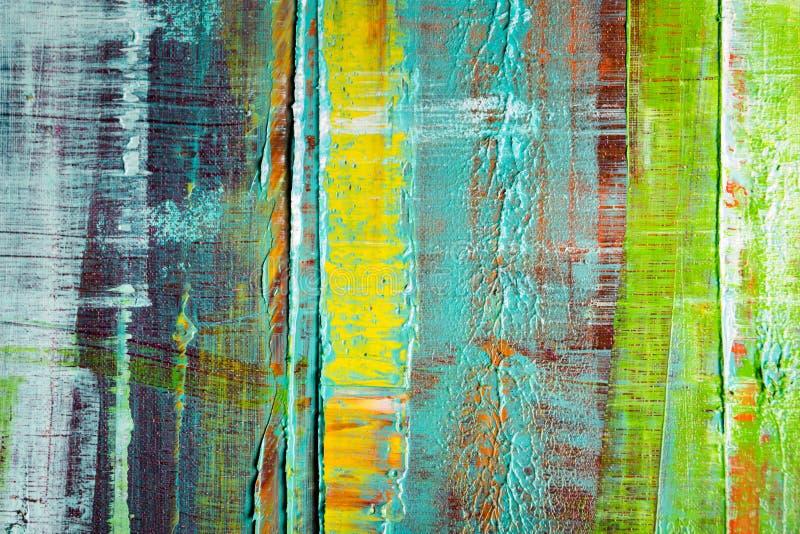 καμβάς που χρωματίζεται αφηρημένος Ελαιοχρώματα σε μια παλέτα ελεύθερη απεικόνιση δικαιώματος