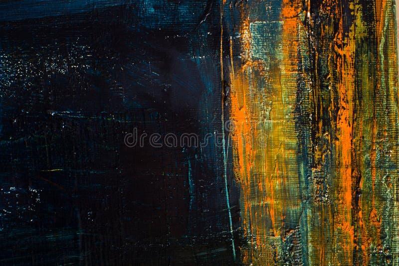 καμβάς που χρωματίζεται αφηρημένος Ελαιοχρώματα σε μια παλέτα απεικόνιση αποθεμάτων