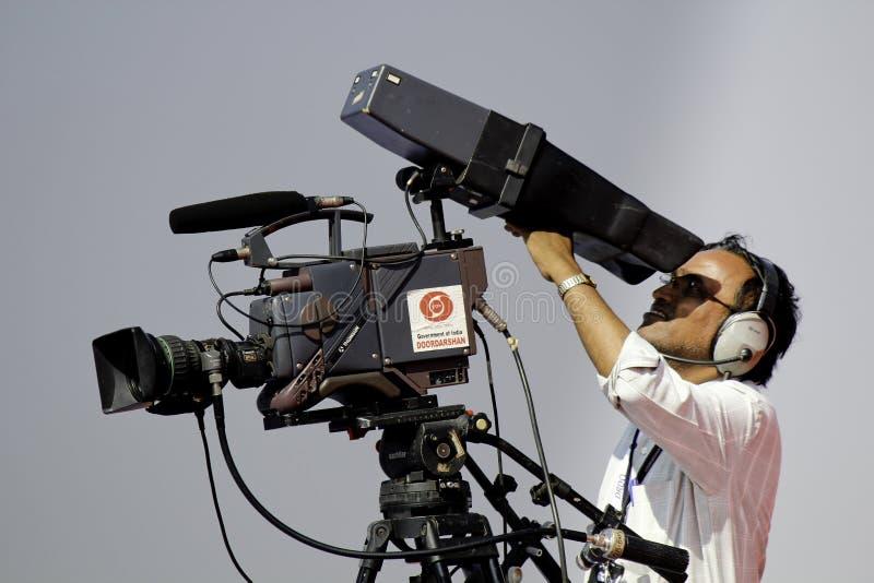 Καμεραμάν TV στοκ φωτογραφίες
