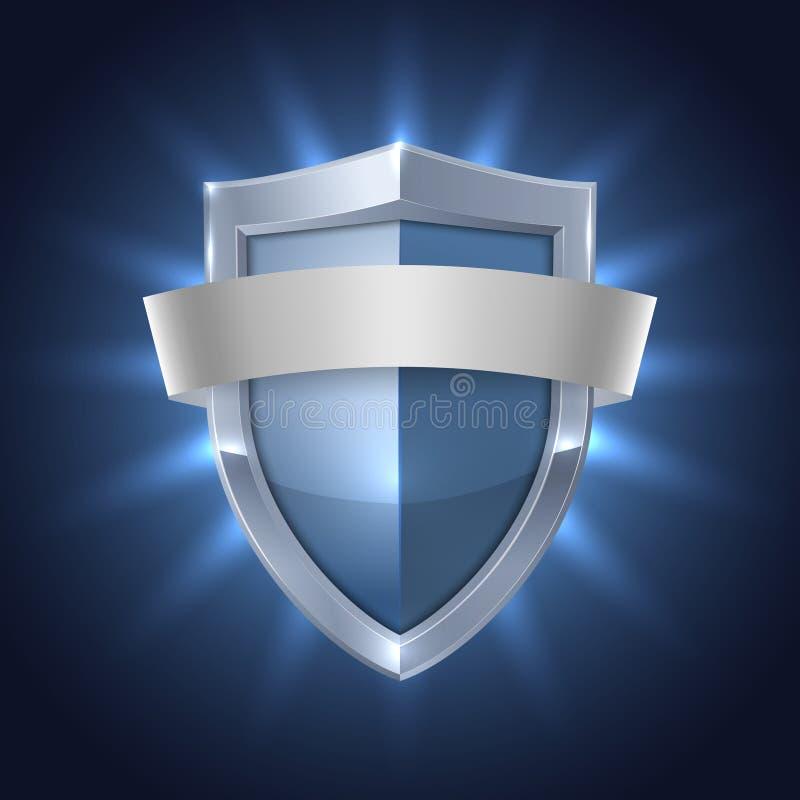 Καμμένος ασπίδα με το κενό διακριτικό ασφάλειας κορδελλών