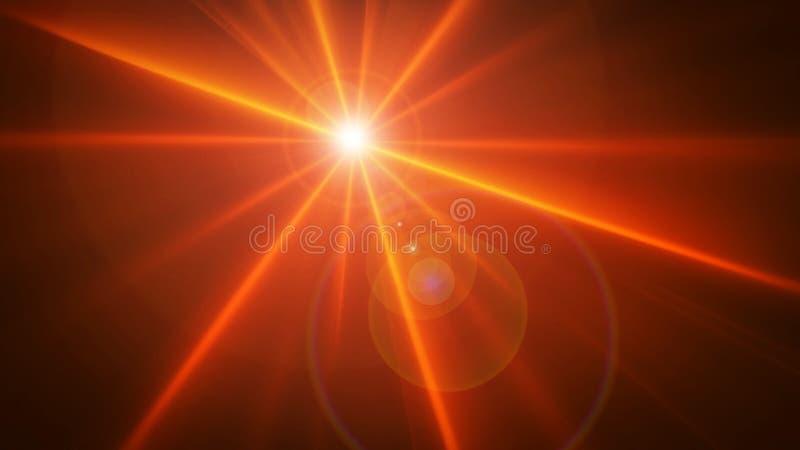 Καμμένος αστέρι Birght διανυσματική απεικόνιση
