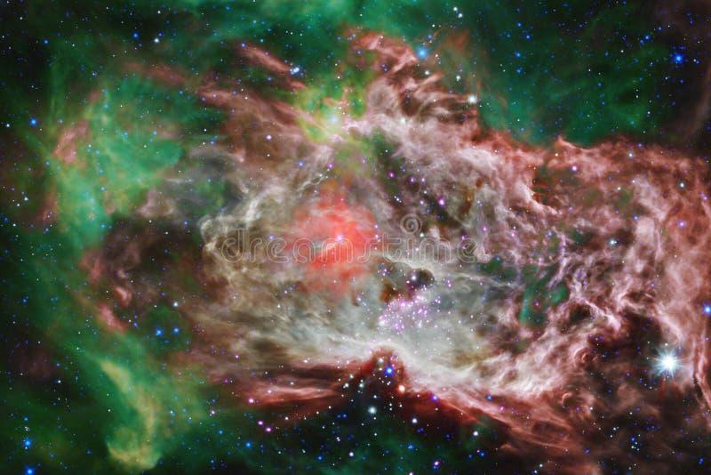 Καμμένος γαλαξίας, τρομερή ταπετσαρία επιστημονικής φαντασίας στοκ εικόνες
