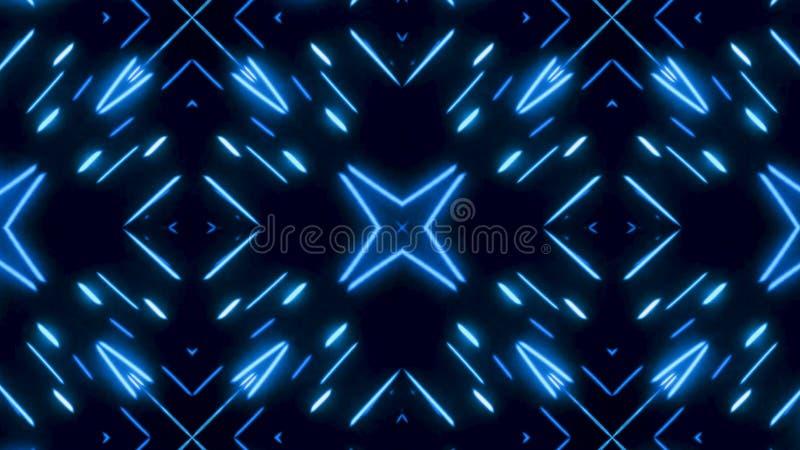 Καμμένος δυναμικό μπλε και άσπρο καλειδοσκόπιο, άνευ ραφής βρόχος : Όμορφοι μεταβαλλόμενοι αριθμοί μαγνήτισης, περίληψη διανυσματική απεικόνιση