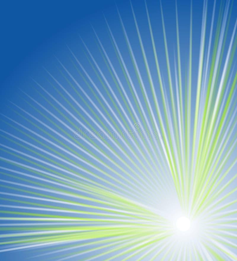 καμμένος ελαφριές ακτίνες γραμμών ελεύθερη απεικόνιση δικαιώματος
