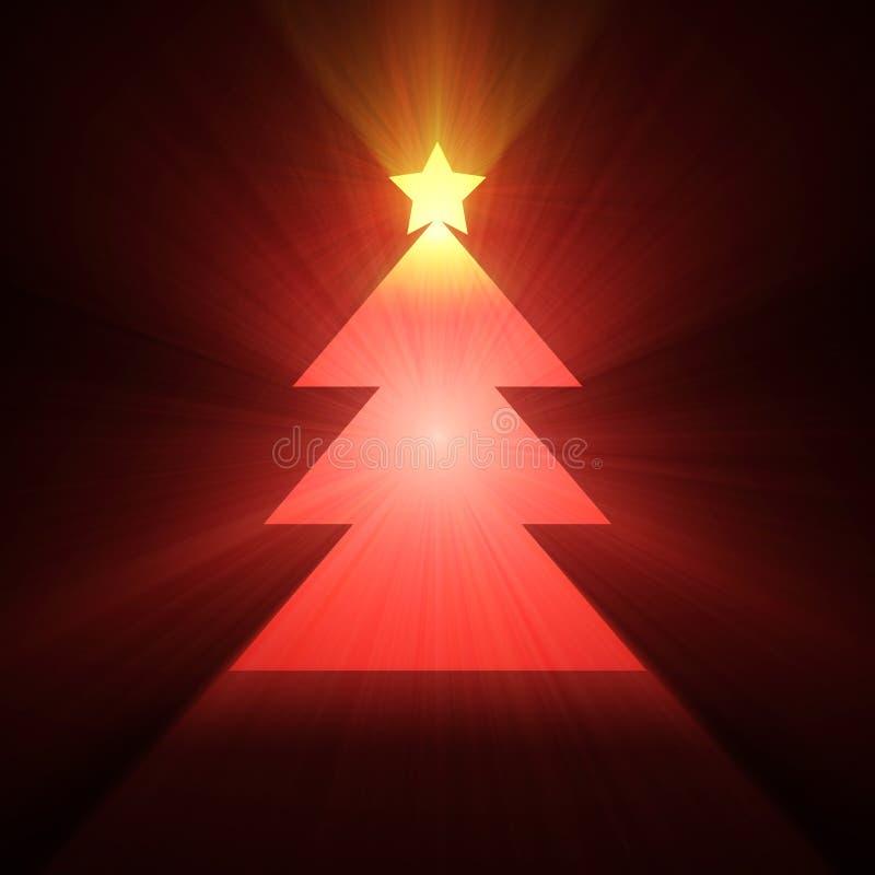 καμμένος ελαφρύ δέντρο φλ&omi ελεύθερη απεικόνιση δικαιώματος