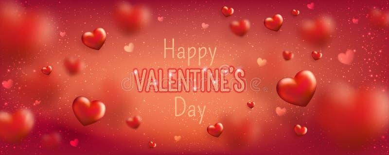 Καμμένος κείμενο για την ευτυχή ευχετήρια κάρτα ημέρας βαλεντίνων Χαριτωμένο έμβλημα αγάπης για την 14η Φεβρουαρίου ελεύθερη απεικόνιση δικαιώματος