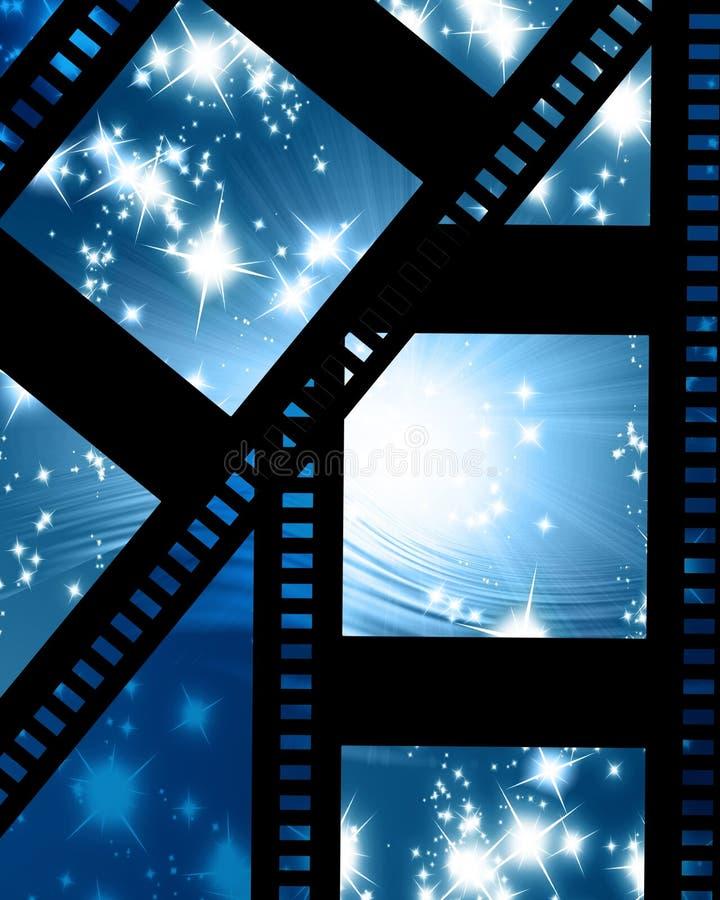 Καμμένος λουρίδα ταινιών διανυσματική απεικόνιση
