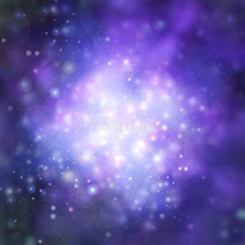 Καμμένος μπλε εορταστικό υπόβαθρο διανυσματική απεικόνιση