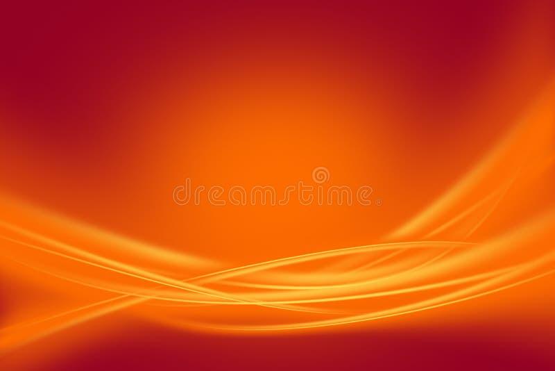 Καμμένος πορτοκαλιές ακτίνες διανυσματική απεικόνιση