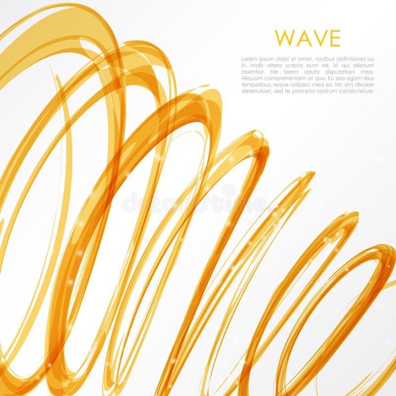 Καμμένος πορτοκαλιά σπείρα στο άσπρο υπόβαθρο Τα χρώματα φύσης αφαιρούν την ελαφριά γεια έννοια τεχνολογίας ελεύθερη απεικόνιση δικαιώματος