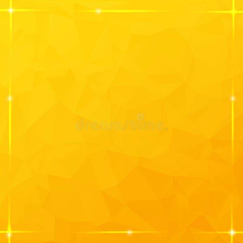 Καμμένος πλαίσιο νημάτων στο πορτοκαλί τριγωνικό υπόβαθρο απεικόνιση αποθεμάτων