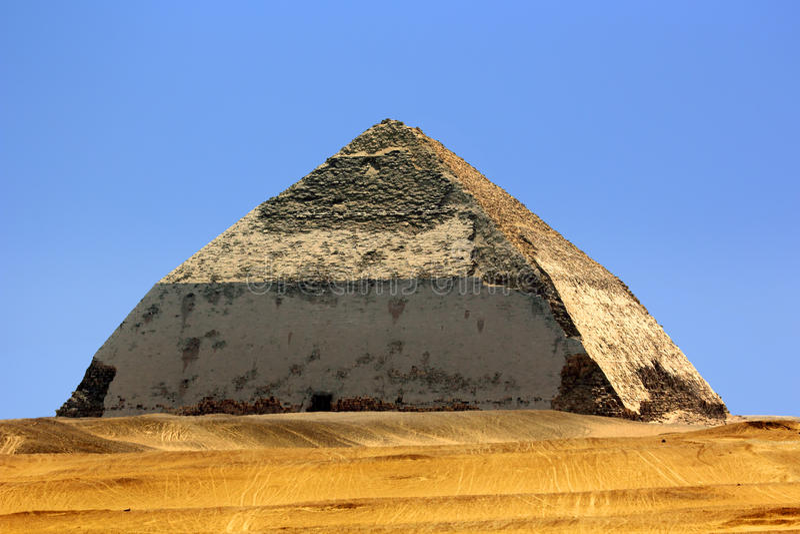 Καμμμένη πυραμίδα στοκ φωτογραφία με δικαίωμα ελεύθερης χρήσης