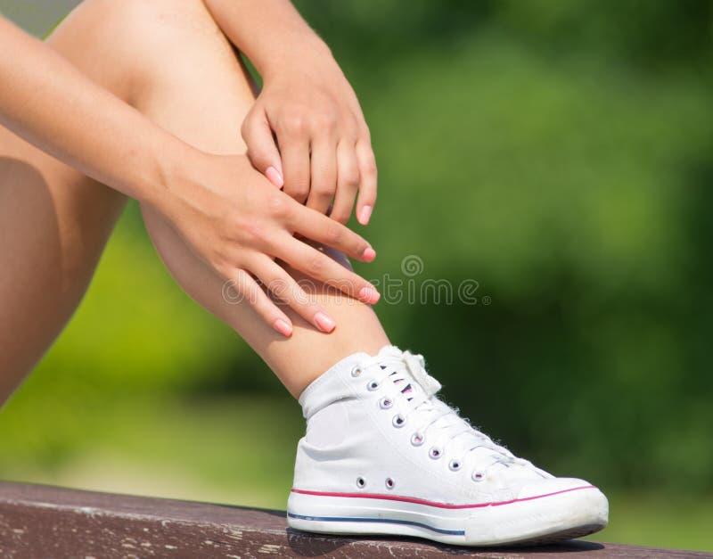 Καμμμένο γόνατο στοκ εικόνα με δικαίωμα ελεύθερης χρήσης