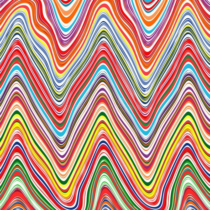 Καμμμένο ουράνιο τόξο διανυσματικό υπόβαθρο τέχνης γραμμών χρώματος λωρίδων κυμάτων διανυσματική απεικόνιση