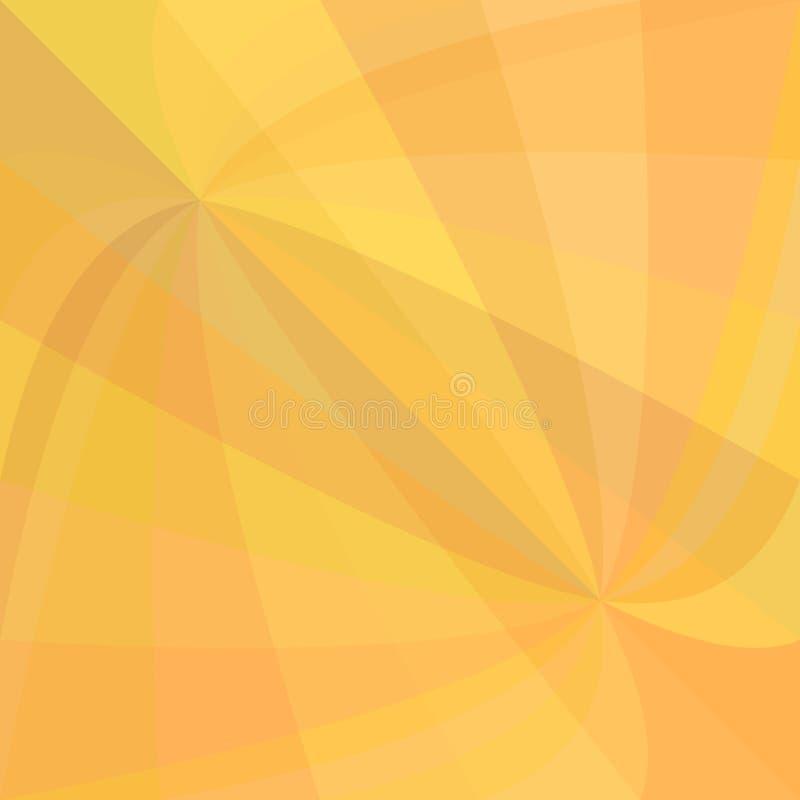 Καμμμένο πορτοκάλι υπόβαθρο έκρηξης ακτίνων - διανυσματικό σχέδιο από τις στροβιλιμένος ακτίνες διανυσματική απεικόνιση