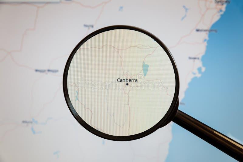 Καμπέρρα, Αυστραλία Πολιτικός χάρτης στοκ εικόνα