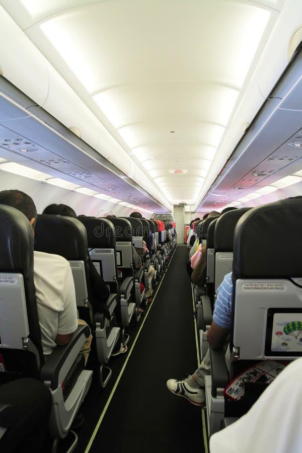 καμπίνα αεροπλάνων μέσα στοκ φωτογραφία