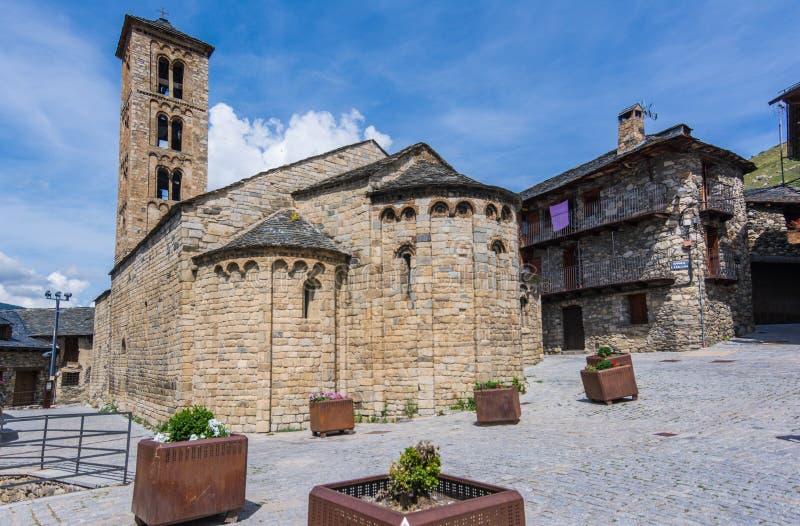 Καμπαναριό και εκκλησία της Σάντα Μαρία de Taull, Καταλωνία, Ισπανία Romanesque ύφος στοκ εικόνα με δικαίωμα ελεύθερης χρήσης