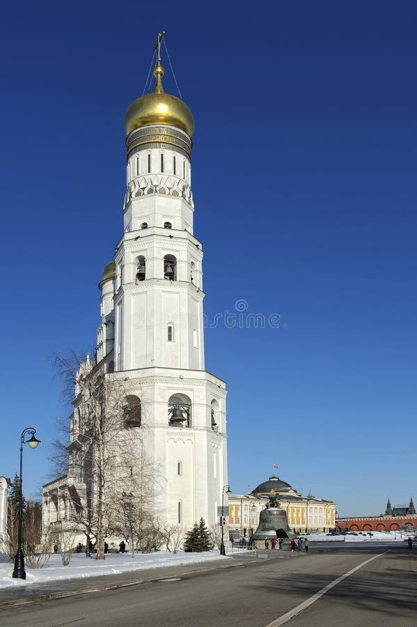 Καμπαναριό του Ivan ο μεγάλος στη Μόσχα στοκ εικόνες
