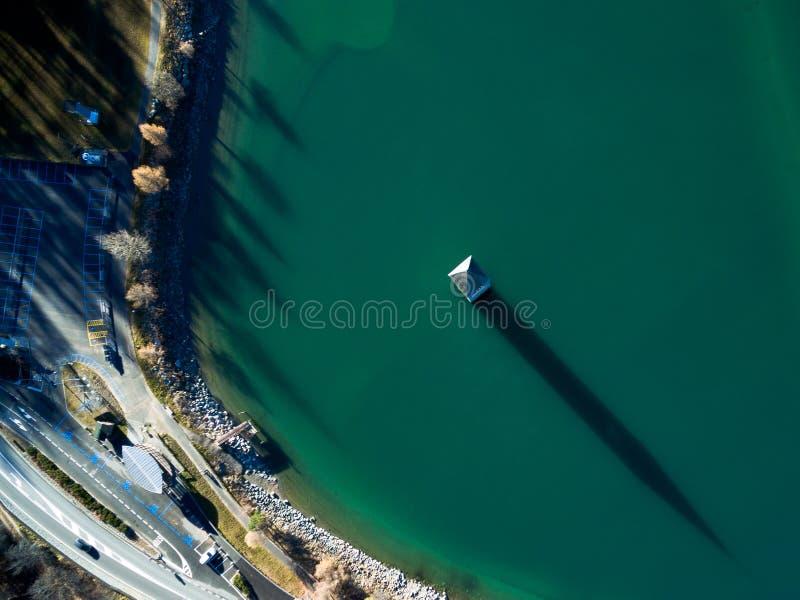 Καμπαναριό του resia λιμνών στοκ φωτογραφίες